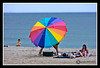 Beach umbrella at Hampton Beach